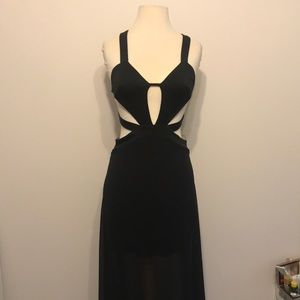 Black scrappy dress